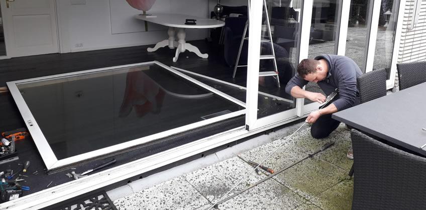 Schuifpuislot reparatie